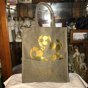 New Marc Jacobs Daisy Canvas Tote Bag